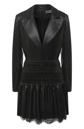 Женское платье SELF-PORTRAIT черного цвета, арт. AW20-116D | Фото 1