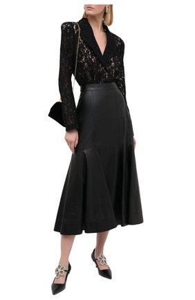 Женское боди ULYANA SERGEENKO черного цвета, арт. BDY001FW20P 1149т20 | Фото 2