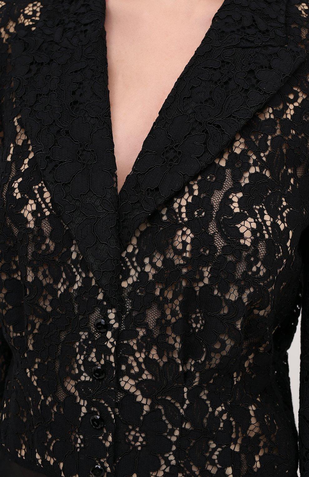Женское боди ULYANA SERGEENKO черного цвета, арт. BDY001FW20P 1149т20 | Фото 5 (Рукава: Длинные; Стили: Гламурный; Кросс-КТ: с рукавом; Женское Кросс-КТ: Боди-одежда)