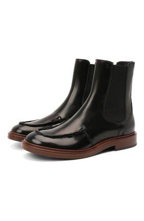 Женские кожаные ботинки TOD'S черного цвета, арт. XXW93C0DV00ESH | Фото 1