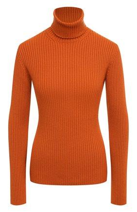 Женская кашемировая водолазка LORO PIANA оранжевого цвета, арт. FAL3580   Фото 1 (Материал внешний: Кашемир, Шерсть; Длина (для топов): Стандартные; Рукава: Длинные; Женское Кросс-КТ: Водолазка-одежда; Стили: Кэжуэл)