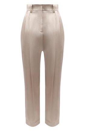 Женские брюки из шелка и хлопка BRUNELLO CUCINELLI бежевого цвета, арт. MR813P7449 | Фото 1