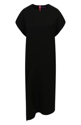 Женское шерстяное платье Y`S черного цвета, арт. YB-T40-130 | Фото 1