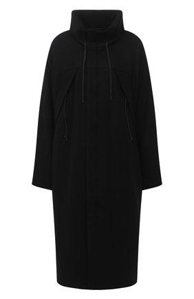 Женское шерстяное пальто YOHJI YAMAMOTO черного цвета, арт. FB-C51-107 | Фото 1