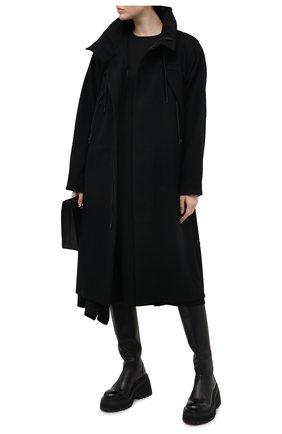 Женское шерстяное пальто YOHJI YAMAMOTO черного цвета, арт. FB-C51-107 | Фото 2