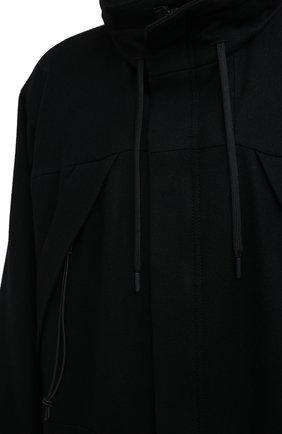 Женское шерстяное пальто YOHJI YAMAMOTO черного цвета, арт. FB-C51-107 | Фото 5