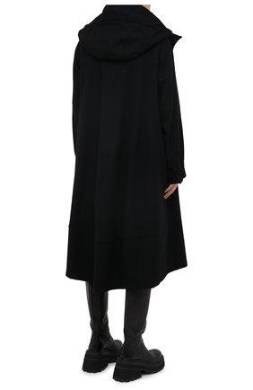 Женское шерстяное пальто YOHJI YAMAMOTO черного цвета, арт. FB-C51-107 | Фото 6