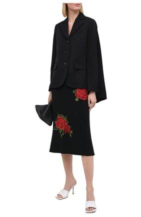 Женская юбка DOLCE & GABBANA черного цвета, арт. F4B0ZZ/GD0Q4 | Фото 2