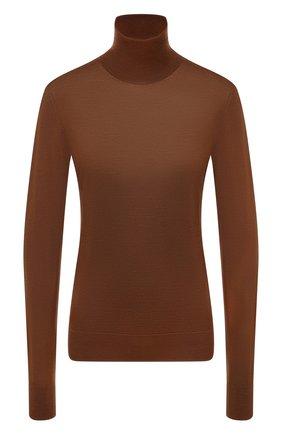 Женская кашемировая водолазка DOLCE & GABBANA коричневого цвета, арт. FX831T/JAW3F | Фото 1