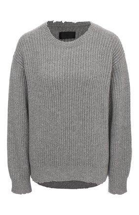 Женский свитер из кашемира и хлопка RTA серого цвета, арт. WF0583-833CEMT | Фото 1