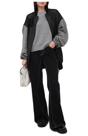 Женский свитер из кашемира и хлопка RTA серого цвета, арт. WF0583-833CEMT | Фото 2