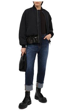 Женские джинсы BALMAIN синего цвета, арт. UF05701/D073 | Фото 2