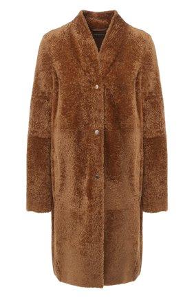 Женская шуба из овчины ANNE VEST коричневого цвета, арт. AW20/01/212/17/B.LAMB | Фото 1