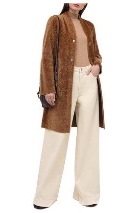Женская шуба из овчины ANNE VEST коричневого цвета, арт. AW20/01/212/17/B.LAMB | Фото 2