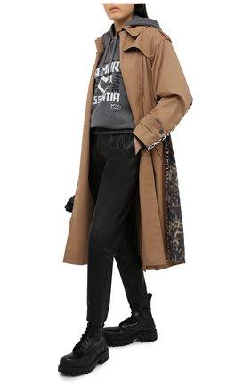 Женская худи из хлопка и кашемира DOLCE & GABBANA серого цвета, арт. F9I51T/G7XQJ | Фото 2