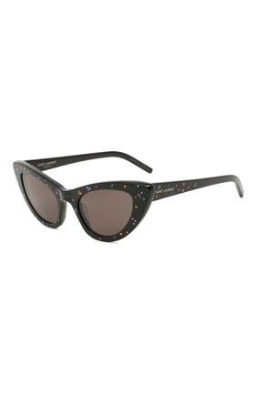 Женские солнцезащитные очки SAINT LAURENT черного цвета, арт. SL 213 LILY   Фото 1