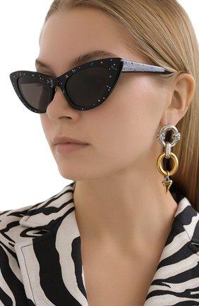 Женские солнцезащитные очки SAINT LAURENT черного цвета, арт. SL 213 LILY   Фото 2
