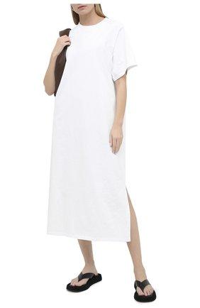 Женское хлопковое платье THE ROW кремвого цвета, арт. 5331K353 | Фото 2