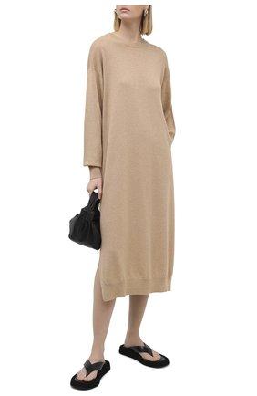 Женское кашемировое платье THE ROW светло-коричневого цвета, арт. 5337F377 | Фото 2
