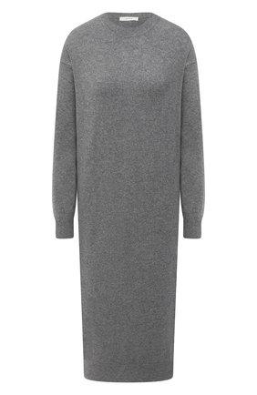 Женское кашемировое платье THE ROW серого цвета, арт. 5337F377 | Фото 1