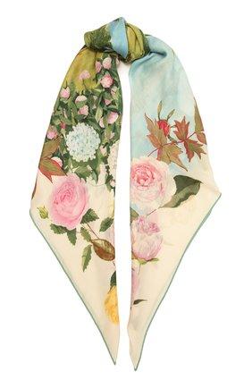Женская шаль из кашемира и шелка LORO PIANA розового цвета, арт. FAL4107 | Фото 1