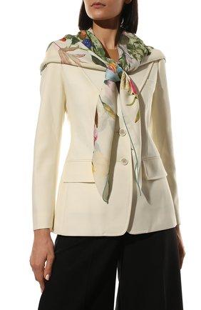 Женская шаль из кашемира и шелка LORO PIANA розового цвета, арт. FAL4107 | Фото 2