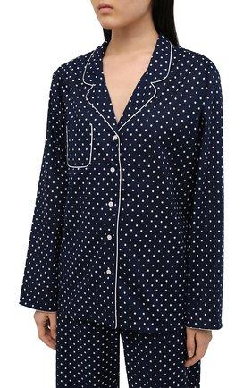 Женская хлопковая пижама DEREK ROSE синего цвета, арт. 2029-PLAZ060 | Фото 2