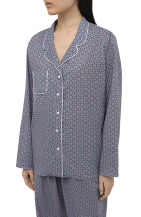 Женская хлопковая пижама DEREK ROSE разноцветного цвета, арт. 2029-LEDB037 | Фото 2