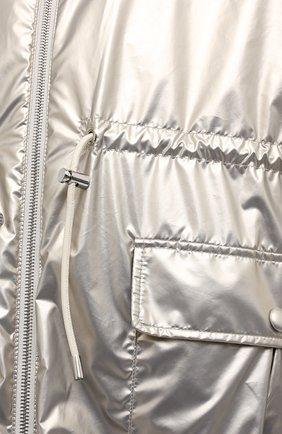 Женская парка с меховой подкладкой YVES SALOMON серебряного цвета, арт. 21WYM03822NYVC | Фото 5