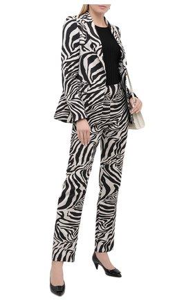 Женские брюки ESCADA черно-белого цвета, арт. 5034249 | Фото 2