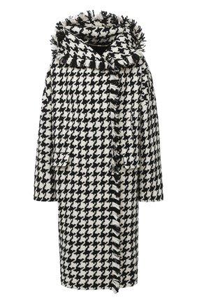 Женское шерстяное пальто ESCADA черно-белого цвета, арт. 5033894 | Фото 1