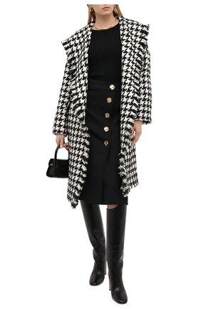 Женское шерстяное пальто ESCADA черно-белого цвета, арт. 5033894 | Фото 2