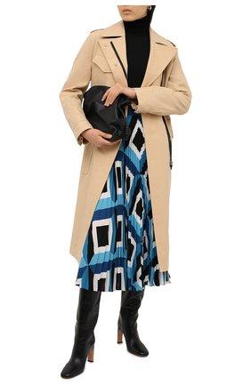 Женская плиссированная юбка ESCADA голубого цвета, арт. 5033520 | Фото 2