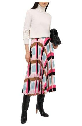 Женская плиссированная юбка ESCADA розового цвета, арт. 5033520 | Фото 2
