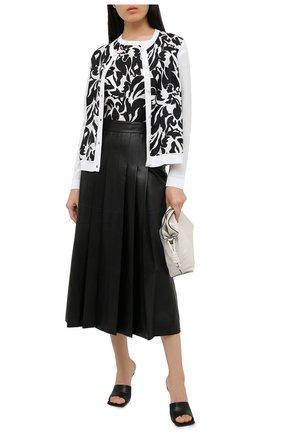 Женский кардиган из вискозы и хлопка ESCADA черно-белого цвета, арт. 5033404 | Фото 2
