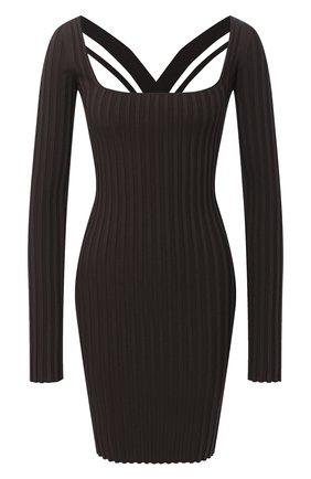 Женское платье HELMUT LANG коричневого цвета, арт. K07HW708 | Фото 1