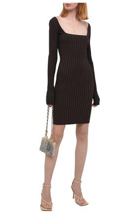 Женское платье HELMUT LANG коричневого цвета, арт. K07HW708 | Фото 2