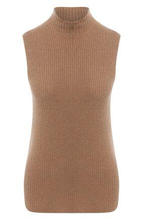Женский кашемировый топ THEORY коричневого цвета, арт. K0818720 | Фото 1