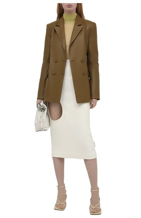 Женская шерстяная юбка OFF-WHITE кремвого цвета, арт. 0WCC111F20FAB0016100   Фото 2