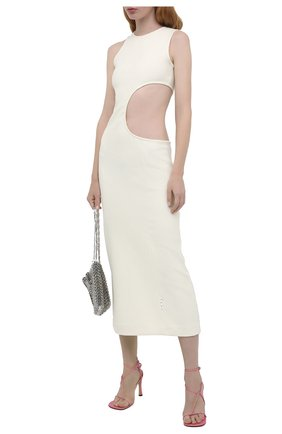 Женское шерстяное платье OFF-WHITE кремвого цвета, арт. 0WDB273F20FAB0016100 | Фото 2