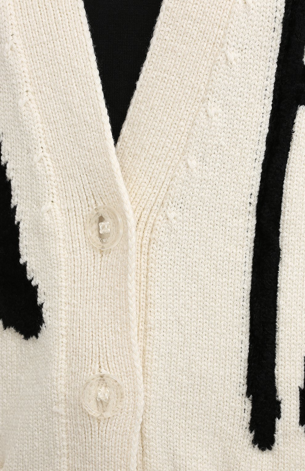 Женский шерстяной кардиган OFF-WHITE кремвого цвета, арт. 0WHB006F20KNI0016110 | Фото 5