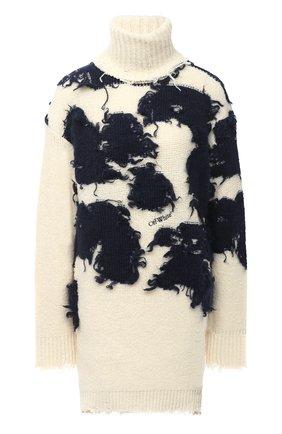 Женская свитер OFF-WHITE кремвого цвета, арт. 0WHF013F20KNI0016145 | Фото 1