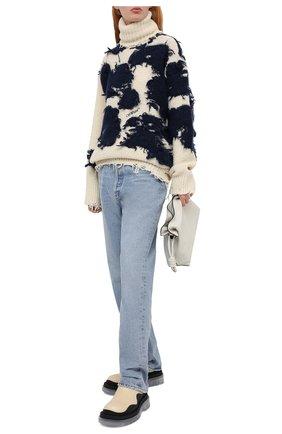 Женская свитер OFF-WHITE кремвого цвета, арт. 0WHF013F20KNI0016145 | Фото 2