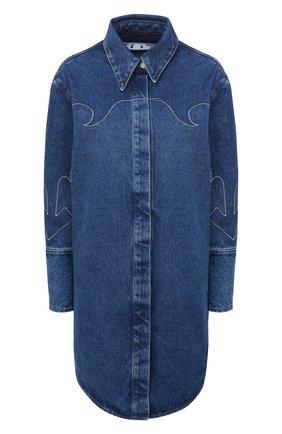 Женское джинсовое платье OFF-WHITE синего цвета, арт. 0WYM008F20DEN0014545 | Фото 1