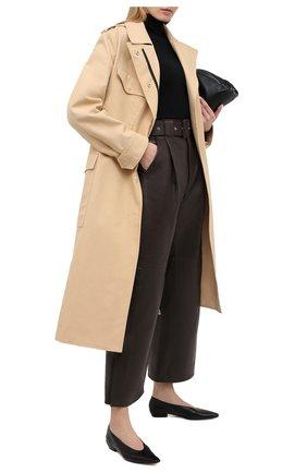 Женские кожаные брюки TWINS FLORENCE темно-коричневого цвета, арт. TWFAI20PAN0002D | Фото 2