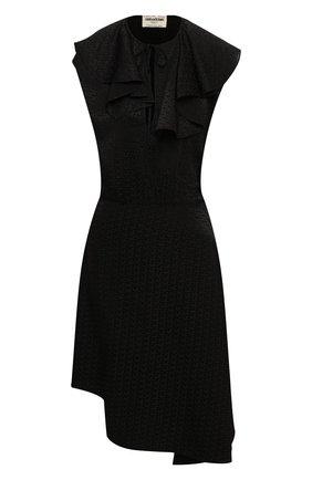 Женское шелковое платье ZADIG&VOLTAIRE черного цвета, арт. WJCP0437F | Фото 1