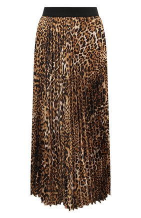 Женская плиссированная юбка ZADIG&VOLTAIRE леопардового цвета, арт. WJCD0302F | Фото 1