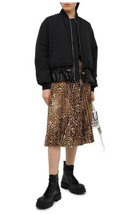 Женская плиссированная юбка ZADIG&VOLTAIRE леопардового цвета, арт. WJCD0302F | Фото 2