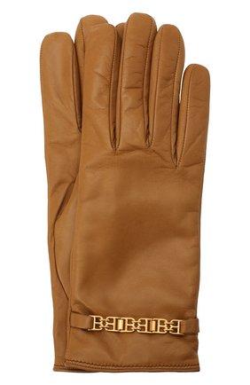Женские кожаные перчатки BALLY бежевого цвета, арт. L9P0056L-1S134/579 | Фото 1