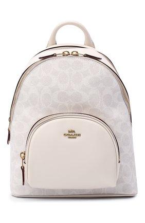 Женский рюкзак carrie small COACH белого цвета, арт. 1029 | Фото 1